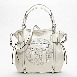 COACH F19566 - AUDREY LEATHER MEDIUM CINCHED TOTE ONE-COLOR
