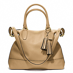 COACH F19892 Leather Rory Satchel BRASS/SAND