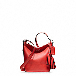 LEATHER MINNIE DUFFLE - f19901 - SILVER/CARNELIAN