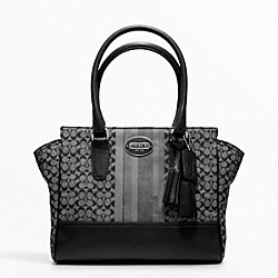 COACH F19915 Signature Stripe Candace Carryall