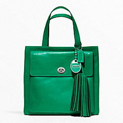 COACH F19982 - AMERICAN ICONS POCKET TOTE SILVER/EMERALD