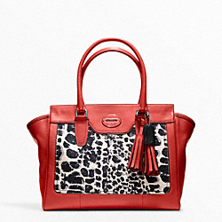 COACH F19989 Ocelot Print Medium Candace Carryall