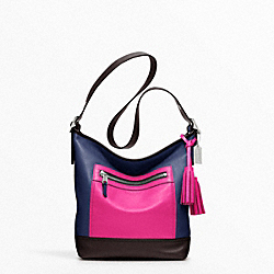 COLORBLOCK LEATHER DUFFLE - f19995 - 11905