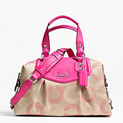 COACH F20027 Ashley Dotted Op Art Satchel