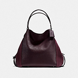 COACH F20334 Edie Shoulder Bag 42 DK/OXBLOOD