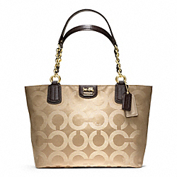 COACH F20481 - MADISON TOTE IN OP ART SATEEN ONE-COLOR