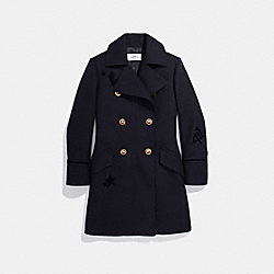 COACH F20492 Naval Coat NAVY