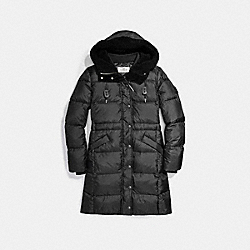SOLID LONG PUFFER - f20500 - BLACK