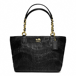 COACH F20522 - MADISON GATHERED LEATHER TOTE ONE-COLOR