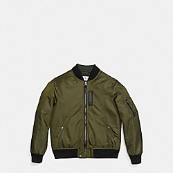 FABRIC MA-1 JACKET - f20876 - ARMY GREEN