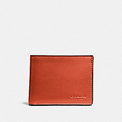 COACH F20954 Slim Billfold Id Wallet DEEP ORANGE