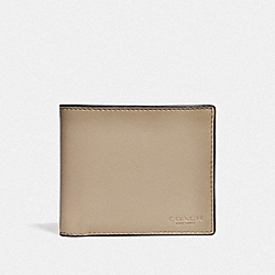 COACH F20956 - 3-IN-1 WALLET LIGHT KHAKI