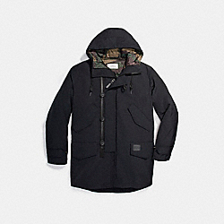 DOWN PARKA - f21008 - BLACK