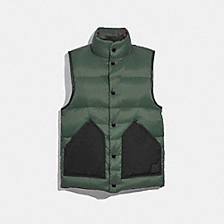 COACH F21009 Reversible Down Vest RIFLE GRN/DK GRN CAMO