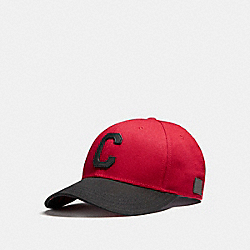 VARSITY C CAP - f21011 - RED/BLACK