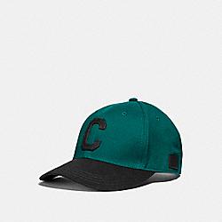 VARSITY C CAP - f21011 - TEAL/BLACK