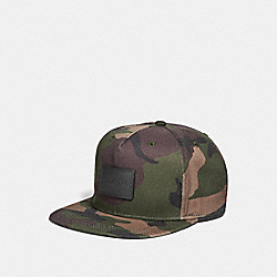 CAMO FLAT BRIM HAT - f21012 - DARK GREEN CAMO