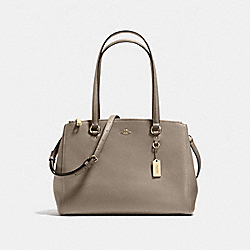 STANTON CARRYALL IN CROSSGRAIN LEATHER - f21024 - LIGHT GOLD/FOG