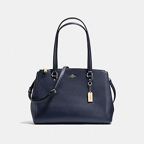 COACH f21024 STANTON CARRYALL NAVY/LIGHT GOLD