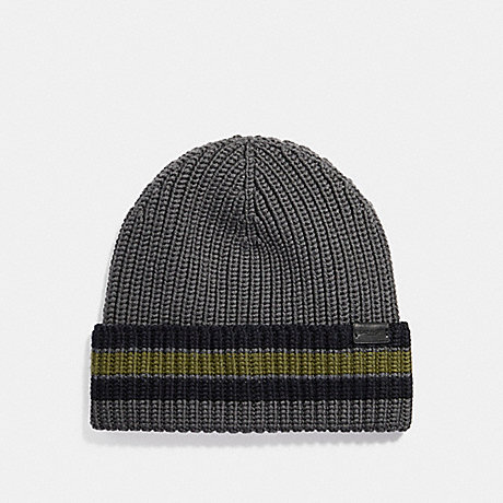 Coach Varsity Stripe Knit Beanie Coach