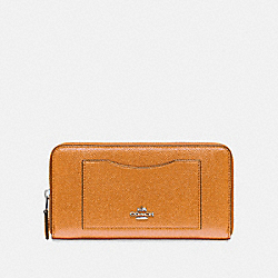 ACCORDION ZIP WALLET - f21068 - SILVER/ROSEGOLD