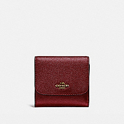 COACH F21069 Small Wallet LIGHT GOLD/METALLIC CHERRY