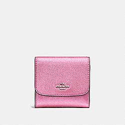 COACH F21069 - SMALL WALLET METALLIC BLUSH/SILVER