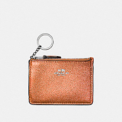COACH F21072 Mini Skinny Id Case ROSE GOLD/SILVER