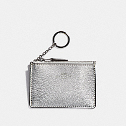 COACH F21072 Mini Skinny Id Case METALLIC SILVER/SILVER