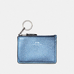 COACH F21072 Mini Skinny Id Case METALLIC POOL/SILVER