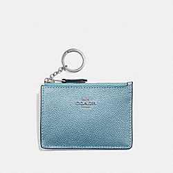 MINI SKINNY ID CASE - F21072 - METALLIC SKY BLUE/SILVER