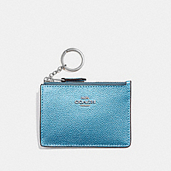 COACH F21072 Mini Skinny Id Case METALLIC ICE/SILVER