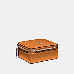 JEWELRY BOX - F21074 - METALLIC TANGERINE/SILVER