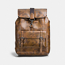 BLEECKER BACKPACK WITH WILD BEAST PRINT - F21078 - SURPLUS/BLACK COPPER FINISH