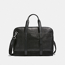 COACH F21080 Metropolitan Soft Brief With Baseball Stitch BLACK/BLACK ANTIQUE NICKEL