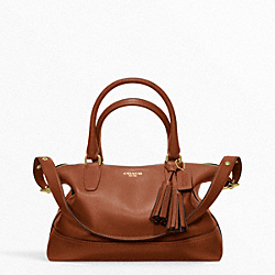 COACH F21132 - LEATHER MOLLY SATCHEL BRASS/COGNAC
