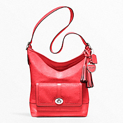 COACH F21158 - HAIRCALF POCKET LARGE DUFFLE SILVER/BRIGHT CORAL
