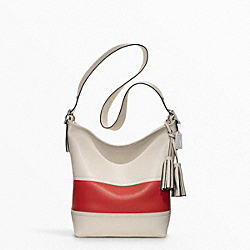 COACH F21180 - RUGBY STRIPE DUFFLE SILVER/PARCHMENT/CARNELIGHT GOLDAN