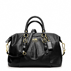 COACH F21222 Madison Leather Juliette Satchel BRASS/BLACK