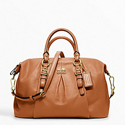 COACH F21222 Madison Leather Juliette Satchel BRASS/COGNAC