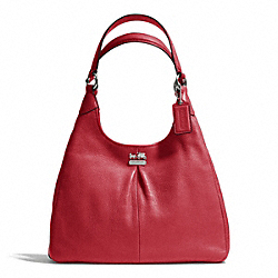 COACH F21225 Madison Leather Maggie SILVER/SCARLET