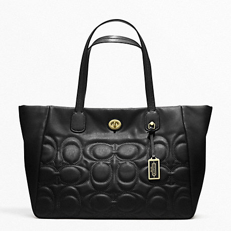 COACH WEEKEND TURNLOCK TOTE IN QUILTED LEATHER -  - f21237