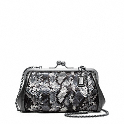 COACH F21274 Madison Sequin Python Frame Clutch
