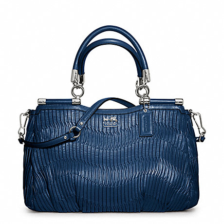 COACH F21281 MADISON GATHERED LEATHER CARRIE SATCHEL ONE-COLOR