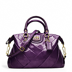COACH F21304 Madison Diagonal Pleated Patent Juliette BRASS/VIOLET
