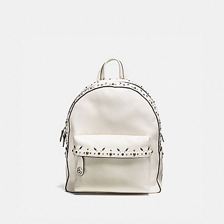COACH F21354 CAMPUS BACKPACK WITH PRAIRIE RIVETS CHALK/LIGHT-ANTIQUE-NICKEL