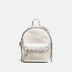 COACH CAMPUS BACKPACK WITH PRAIRIE RIVETS - CHALK/LIGHT ANTIQUE NICKEL - F21354