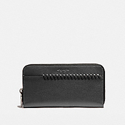 ACCORDION WALLET WITH BASEBALL STITCH - f21369 - BLACK