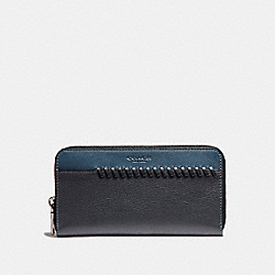 ACCORDION WALLET WITH BASEBALL STITCH - f21369 - DENIM/MIDNIGHT