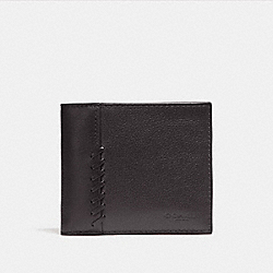 3-IN-1 WALLET WITH BASEBALL STITCH - f21371 - BLACK